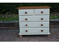 Pine chest of drawers painted with Farrow & Ball 3 + 2