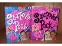 Girls sleepover pack with book, new