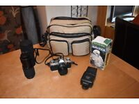 Canon AE1 Camera & Accessories