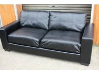 Black PU Leather sofa. FREE DELIVERY within 10 miles of Belfast!