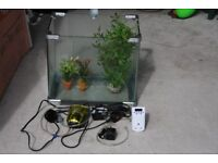 Fish Tank and Spares including Pump and airator