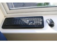 Microsoft wireless keyboard 800 and wireless mouse 1000 (dongle is broken)