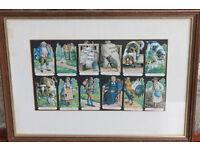 Vintage Framed Decoupage Picture The House That Jack Built Nursery Art Print Art Children Unusual