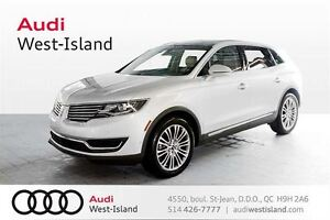 2016 Lincoln MKX Reserve AWD  UN SEUL PROPRIÉTAIRE, AWD