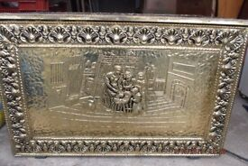 Bates of Birmingham Large Brass covered Coal/logs/blanket chest.