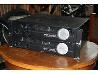 Peavey PV2600 & PV1500 power amplifiers, stereo, professional live equipment