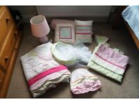 Bedroom Bundle, curtains, canopy, bunting, canvas, lampshade, light, bedspread