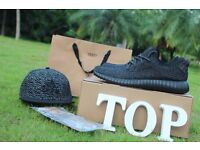 Adidas yeezy boost Original box Private Black best quality size 3-12 UK