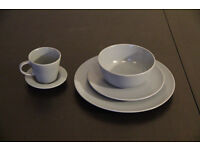 IKEA Dinera Coffee Cups and Saucers Set of 6 beige/blue
