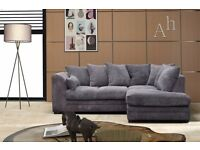 BRAND NEW- LIMITED OFFER - Dylan Jumbo Cord Corner Sofa Suite or 3 and 2 Set - SAME DAY DELIVERY!