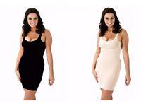 Bodyfit Shape-wear Full Length Control Slip Under Dress Black or Skin S M L XL
