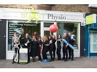 Receptionist Job at Private Physiotherapy Clinic, Full Time in East Finchley. Immediate Start