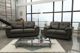 **50% REDUCTION ON THESE GENUINE LEATHER SOFA SETS* CAPRI SOFA RANGE : AVAILABLE IN VARIOUS COLOURS