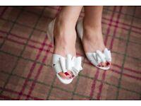 Bridal Flat Shoes Size 6