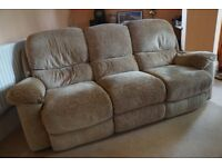 Excellent condition - recliner electric sofa and single chair