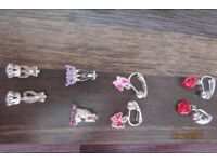 Clip on earrings. Great designs. 1.50 per pair, will sell separately. Collect from Torquay or ca