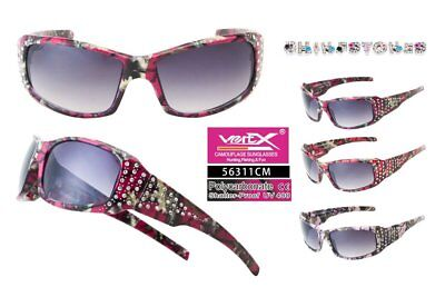 wholesale lot of (12) 56311CM-PINK MIX  VertX Women's Camo Sports Sunglasses