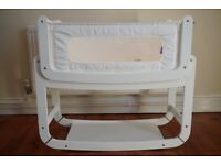 SnuzPod 3-in-1 Bedside Crib (White) with Mattress
