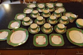 Vintage Tea Set 40 pieces - Taylor & Kent Longton Staffordshire - all in great condition
