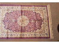 Brand New Pure Silk-look rug