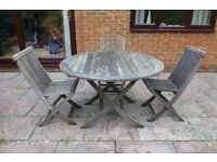 Garden Patio Table and 3 chairs (Hardwood )