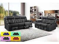 !!LUXURY NEWYORK FULL BONDED LEATHER RECLINER , 3+2+1 ,IN BLACK AND BROWN COLOR ,WE COVER ALL M25