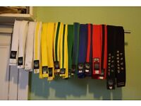 Tae Kwon Do belts x16, assorted
