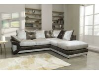 *1 YEAR WARRANTY INCLUDED*BRAND NEW MAX CORNER SOFA OR 3+2 SUITE IN CRUSHED VELVET