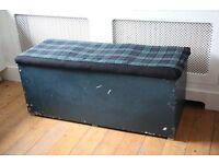 Tartan upholstered blanket box