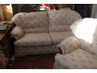 3 seater settee a reclyning chair