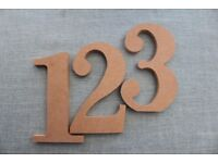 Large Wooden Numbers (1-7)