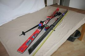 ROSSINGOL AND FISCHER SKIS AND POLES