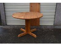 Circular Extending Pine Kitchen Table, Newlands, Southside