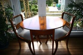 Dining Table + 2 Chairs in Cherrywood