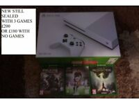 NEW XBOX ONE S 500gb WITH 3 GAMES