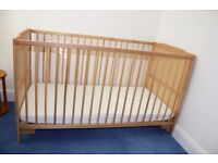 LIKE NEW - Baby's Cot / First 'junior' bed