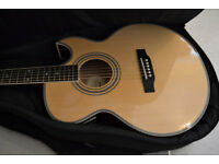Epiphone PR-5E/N Electro Acoustic Guitar - with Armourdillo thick padded carry case