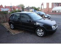 2001 VW GOLF 1.9 TDI, 169k no tax or MOT but still an excellent runner. Lots of extras