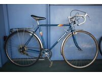 Vintage Unisex Peugeot 5 Speed Road Bike - 52cm - Original Chrome Mudguards