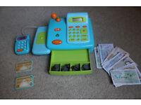 ELC till, cash register, shop with cards and money