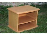 TV STAND, wood effect, sturdy condition, compact but good size - collect near Swansea Valley