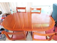 Wooden Dinning Table and Chairs Oriental Style