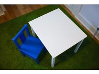 Ikea child table and chair