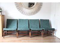 Rare Ercol 427 Armchairs modular seating mid century x4