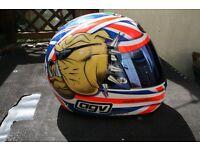 AGV full face motorcycle helmet.