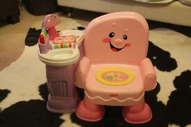Fisher Price laugh and learn pink chair