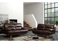 Leather Sofa (Brown Leather)