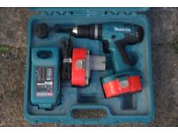 Makita Drill Driver - with case and accessories