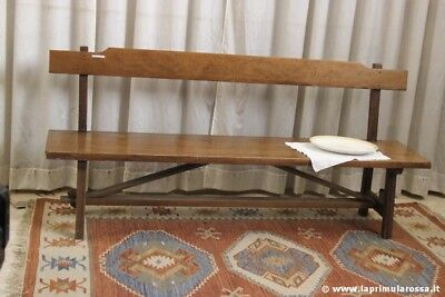 PANCA RUSTICA D'EPOCA IN LEGNO MASSELLO L.mt.2  VINTAGE WOODEN BENCH