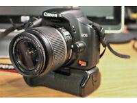 Canon EOS 450D (Rebel XSI) Digital camera + lens + battery Grip + 2 batteries